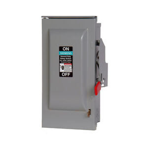 Siemens 60 amp Single Phase 120 240 Non fusible Metallic Safety Switch