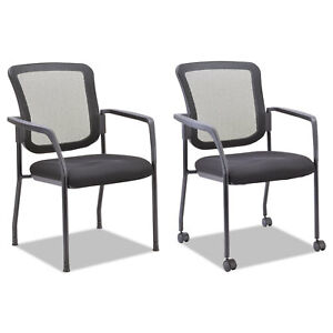 Mesh Guest Stacking Chair Black