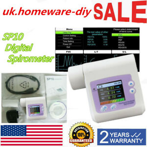 Contec Sp10 Digital Spirometer Lung Breathing Diagnostic Spirometry Home Usa