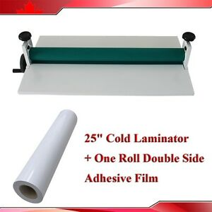 25 Cold Laminator Manual one Roll Double Side Adhesive Laminating Film