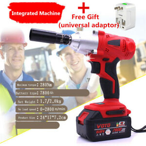 360 N M Rechargeable Brushless Electric Wrench Impact Wrench 100 240v 7800ah