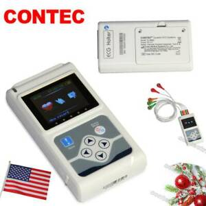 Usa Fda Portable 12 Channel 24h Ecg Ekg Holter Analyze System Recorder software