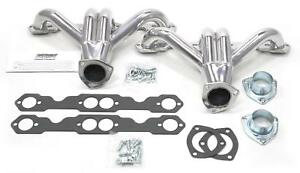Patriot Tight Tuck Street Rod Headers Block Hugger Silver Ceramic 1 5 8 H80271