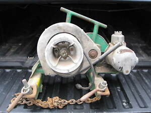 Lot Greenlee Electrician Tools Wire Tugger Wire Pulley Reel Jacks Pipe Threaders