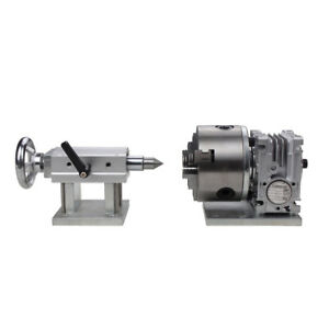 Cnc Router Rotary A 4th Axis Gearbox 3 Jaw 100mm Chuck 20 1 Engraving Tailstock
