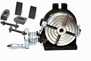 6 Rotary Table 4 Slot Horizontal Vertical With M8 Clamping Kit