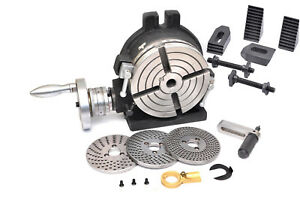 Precision 6 Rotary Table With Dividing Plate Set M8 Clamping Kit Set