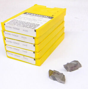 25 New Kennametal Top Notch Grooving Carbide Inserts Size 4 130 Groove