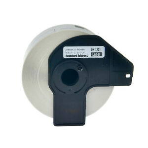20roll Dk1201 White Shipping Labels W Frame Cartridge For Brother Ql 1060n