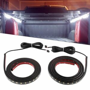 2pcs Car White Led Cargo Truck Bed Light Strip On Off Switch Splitter Cable