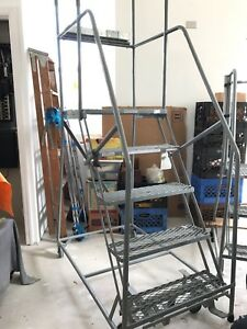 Cotterman Rolling Platform Ladder 4 Foot 2 Inch High model 8188t14