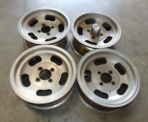 Porsche 914 Vw Others Slot Mags Rims 13x5 5 Inch set Of Four nice Shape Mt
