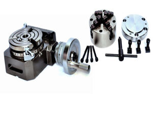 Hv4 Rotary Table With 100mm Independent Chuck