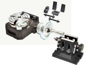 Hv4 Rotary Table 4 Slot With Tailstock M8 Clamping Kit