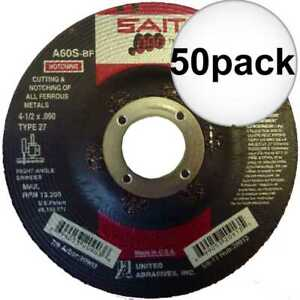 Sait 20903 50x 4 1 2 X 090 X 7 8 General Purpose Metal Cutting Wheel New