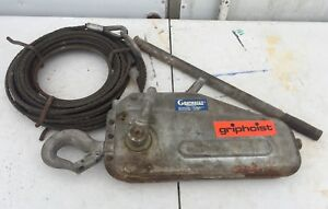 Griphoist Tu 17 Manual Cable Wire Rope Hoist Ratchet Puller Come Along
