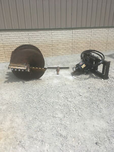 Caterpillar Cat A19b Skidsteer Auger Post Hole Digger 36 Case John Deere