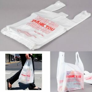 1200 Retail Thank You Plastic Bags Recyclable Grocery Bag Supermarket Shopping