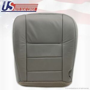 2002 To 2005 Ford Excursion Driver Bottom Leather Seat Cover Foam Cushion Gray
