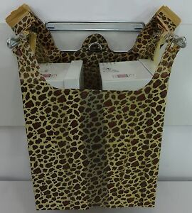 Leopard Print Design Plastic T shirt Shopping Bags Handles 11 5x 6x21 Bags Only