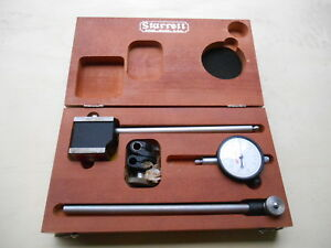 Starrett 657e Magnetic Base Indicator Holder With 25 131 Dial Indicator 0005