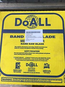 New Doall Band Saw Blade Metal Master 334 034001 3 32