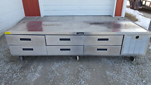 Delfield Chef Base Equipment Stand 6 Drawer Refrigerated Tested 115 Volts
