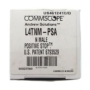 New In Box Qty 50 Commscope Andrew L4tnm psa N Male Positive Stop Connector