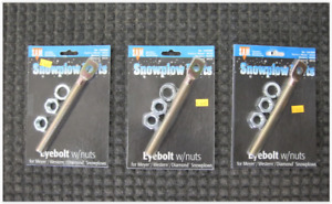 Snow Plow Eyebolts Meyer Western Fisher 3pc Set Boss Snow Dogg 1302005