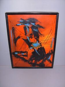 Mid Century Modern Painting 1961 Abstract Expressionist Taos N M Signed Kovaci