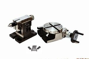 4 Rotary Table With Tailstock M6 Clamping Kit
