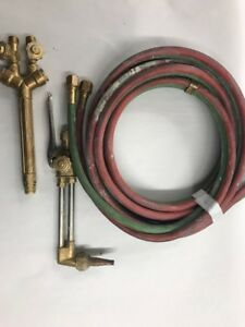 Victor Ca1350 Cutting Torch Handle Mixer Model 100fc Hoses Tested