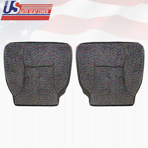 1999 2001 Dodge Ram 1500slt Driver Passenger Bottom Cloth Seat Cover Dark Gray