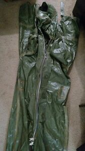 Hazmat Suit All Rubber Rubber Lined Green No Mask Or Gloves Included