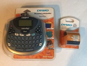 Dymo Personal Label Maker Printer Letratag Lt 100t With Refill Tape