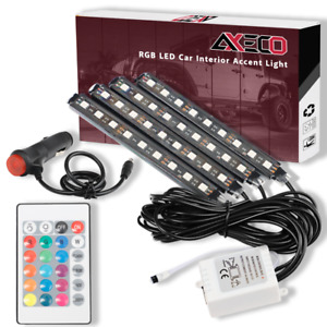 4x Rgb 16 Color 36 Led Interior Car Truck Under Dash Floor Seat Accent Light Kit