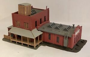 Vintage Train Ho Scale Crusom Casket Co Est 1920 Brick Building West Germany
