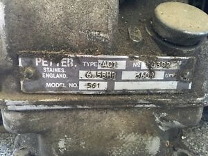 Lister Petter Ac1 6 5hp Diesel Engine Runs Needs Starter Single Cylinder