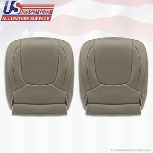 2004 2005 Dodge Ram 2500 Laramie Driver Passenger Bottom Leather Cover Taupe