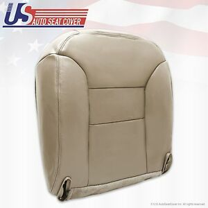 1995 1999 Chevy Tahoe Suburban Driver Leather Bottom Seat Cover Neutral Tan