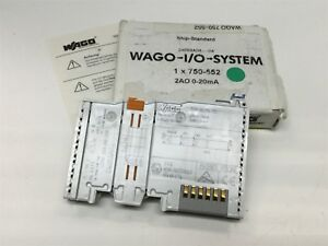 Wago 750 552 Analog Output Module 2 channel Output 0 20ma Voltage 5vdc
