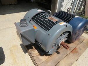 Reliance Electric 60 Hp Motor 364ts 230 460v 3550 Rpm Rebuilt