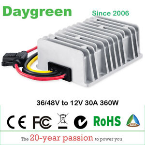 Golf Cart Dc Converter 30 Amp 48v 36v Voltage Regulator To 12v 30a Wholesale