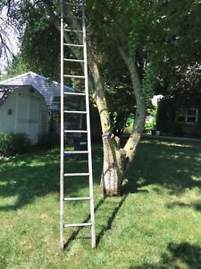14 Tall Antique 13 Rung Primitive Orchard Barn Rustic Wooden Ladder Hand Made