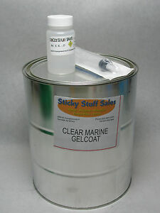 Professional Grade Clear Marine Gelcoat W mekp perfect For Boats no Wax 1gal