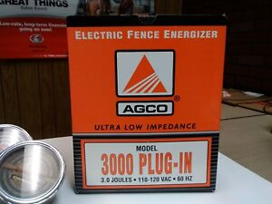 Agco Electric Fence Energizer 3000 Plug In Model 79021454 new