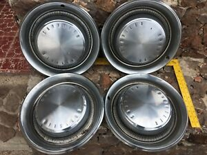 Set Of 4 Original Vintage Chrysler Hub Caps Model year Unknown Size Shown