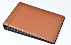 Leather 7 Ring Business Check Binder For 3 On A Page Checks By David Nathan Leat
