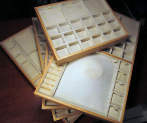 Authentic Pandora Jewelry Store Counter Display Tray Pad Wood Gold Retail Sales