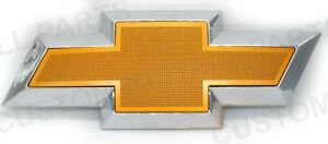 Front Grill Gold Textured Bowtie Emblem Decal Badge Logo Fits Gm Chevy 1999 2006